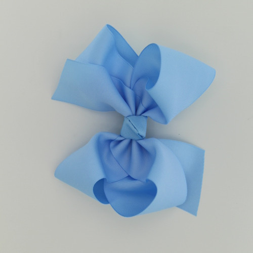 "Item no.        : egch, Size              : 7.5""X6"" Color            : Blue  Center          : Cone  Ribbon Size : 2 1/4""  Type of Clip : French Clip   Made in USA"