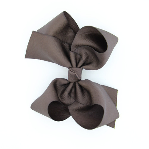 "Item no.        : egch, Size              : 7.5""X6"" Color            : Brown Center          : Cone Ribbon Size : 2 1/4""  Type of Clip : French Clip  Made in USA"