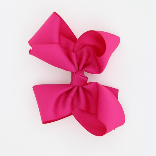 "Item no: egch, Size: 7.5""X6"" Color: Hot Pink Center: Cone Ribbon Size : 2 1/4"" Type of Clip : French Clip   Made in USA"