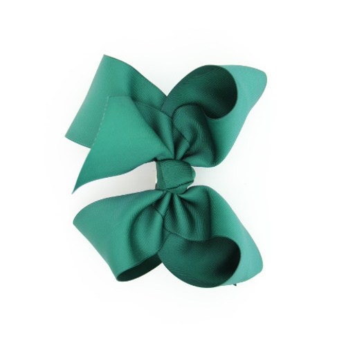 "Item no         : egch, Size              : 7.5""X6"" Color            : Hunter Green Center          : Cone Ribbon Size : 2 1/4""  Type of Clip : French Clip   Made in USA"