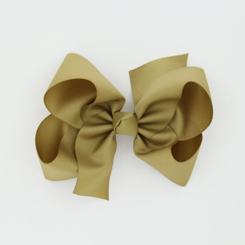 "Item no         : egch, Size              : 7.5""X6"" Color            : Khaki Center          : Cone Ribbon Size : 2 1/4""  Type of Clip : French Clip  Made in USA"