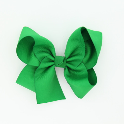"Item no         : egch, Size              : 7.5""X6"" Color            : Kelly Green Center          : Cone Ribbon Size : 2 1/4""  Type of Clip : French Clip   Made in USA"