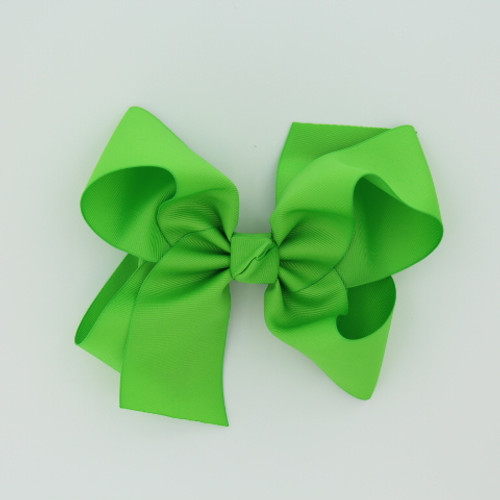 "Item no         : egch, Size              : 7.5""X6"" Color            : Lime Green   Center          : Cone Ribbon Size : 2 1/4""  Type of Clip : French Clip   Made in USA"