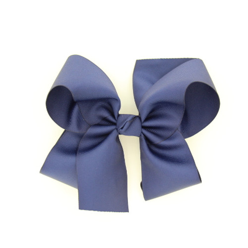 "Item no         : egch, Size              : 7.5""X6"" Color            : Navy Blue Center          : Cone Ribbon Size : 2 1/4""  Type of Clip : French Clip   Made in USA"