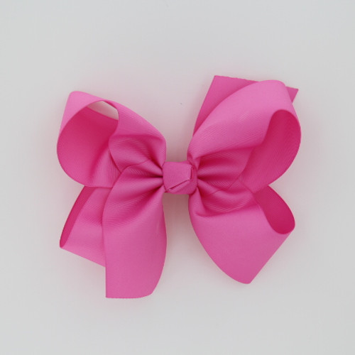 "Item no         : egch, Size              : 7.5""X6"" Color            : Med. Pink Center          : Cone Ribbon Size : 2 1/4""  Type of Clip : French Clip   Made in USA"