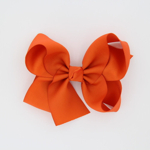 "Item no         : egch, Size              : 7.5""X6"" Color            : Orange Center          : Cone Ribbon Size : 2 1/4""  Type of Clip : French Clip   Made in USA"