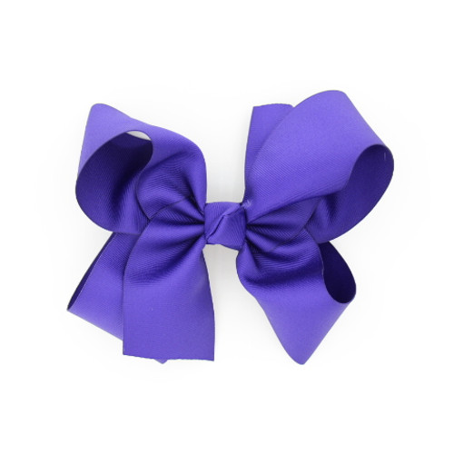 """Item no         : egch, Size              : 7.5""""X6"""" Color            : Purple Center          : Cone Ribbon Size : 2 1/4""""  Type of Clip : French Clip   Made in USA"""