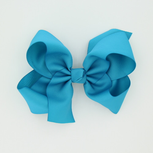 """Item no         : egch, Size              : 7.5""""X6"""" Color            : Turquoise Center          : Cone Ribbon Size : 2 1/4""""  Type of Clip : French Clip   Made in USA"""