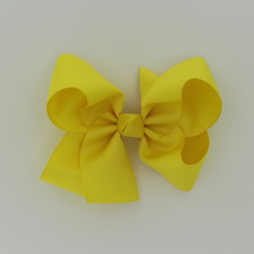 "Item no         : egch, Size              : 7.5""X6"" Color            : Yellow Center          : Cone Ribbon Size : 2 1/4""  Type of Clip : French Clip   Made in USA"