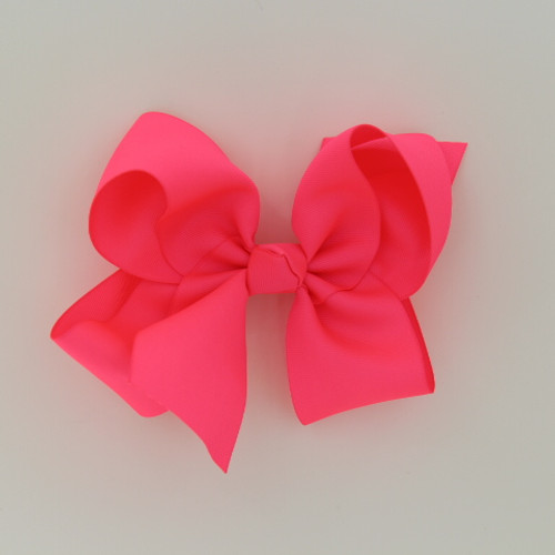 "Item no         : egch, Size              : 7.5""X6"" Color            : Neon Pink Center          : Cone Ribbon Size : 2 1/4""  Type of Clip : French Clip   Made in USA"