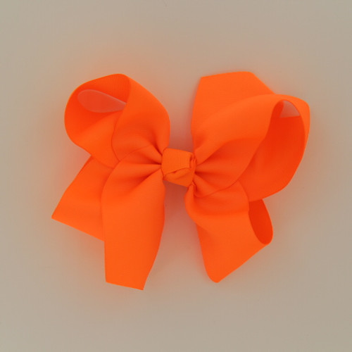 "Item no         : egch, Size              : 7.5""X6"" Color            : Neon Orange Center          : Cone Ribbon Size : 2 1/4""  Type of Clip : French Clip   Made in USA"
