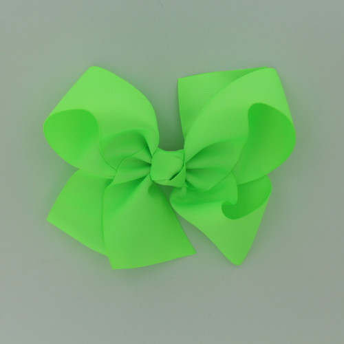 """Item no         : egch, Size              : 7.5""""X6"""" Color            : Neon Green Center          : Cone Ribbon Size : 2 1/4""""  Type of Clip : French Clip   Made in USA"""