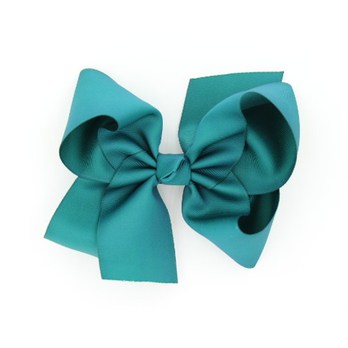 """Item no.: egch, Size              : 7.5""""X6"""" Color            : Teal Center          : Cone Ribbon Size : 2 1/4""""  Type of Clip : French Clip   Made in USA"""