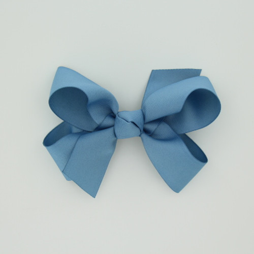 "Item no.: dgch, Size: 6""X5"", Color: Antique Blue,  Ribbon Size: 1 1/2"", Center: Cone,  Type of Clip: French Clip  MADE IN USA"