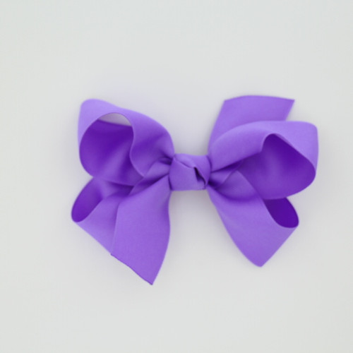 "Item no.: dgch, Size: 6""X5"", Color: Dk. Lavender,  Ribbon Size: 1 1/2"", Center: Cone,  Type of Clip: French Clip  MADE IN USA"