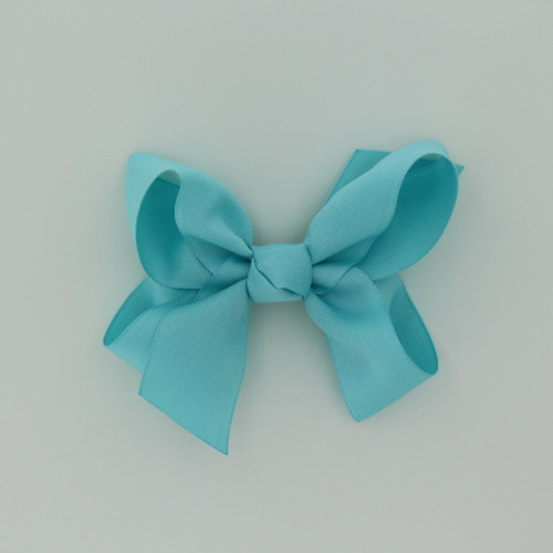 "Item no.: dgch, Size: 6""X5"", Color: Aqua,  Ribbon Size: 1 1/2"", Center: Cone,   Type of Clip: French Clip        MADE IN USA"