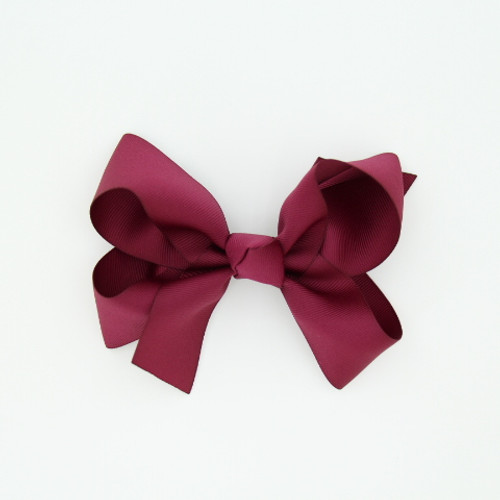 "Item no.: dgch, Size: 6""X5"", Color: Burgundy,  Ribbon Size: 1 1/2"", Center: Cone,   Type of Clip: French Clip        MADE IN USA"