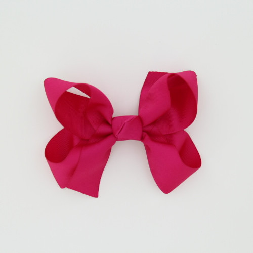 "Item no.: dgch, Size: 6""X5"", Color: Hot Pink,  Ribbon Size: 1 1/2"", Center: Cone,   Type of Clip: French Clip        MADE IN USA"