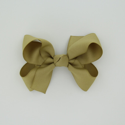"Item no.: dgch, Size: 6""X5"", Color: Khaki,  Ribbon Size: 1 1/2"", Center: Cone,   Type of Clip: French Clip        MADE IN USA"