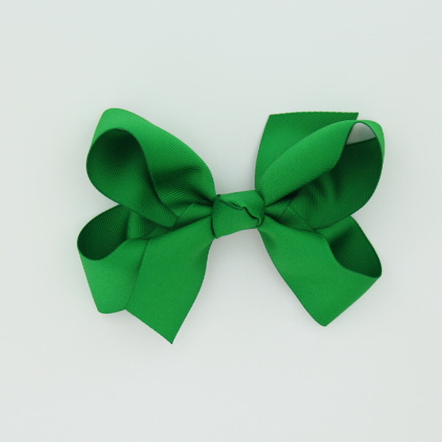 "Item no.: dgch, Size: 6""X5"", Color: Kelly Green,  Ribbon Size: 1 1/2"", Center: Cone,   Type of Clip: French Clip        MADE IN USA"