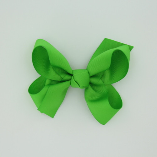 "Item no.: dgch, Size: 6""X5"", Color: Lime Green,  Ribbon Size: 1 1/2"", Center: Cone,   Type of Clip: French Clip        MADE IN USA"