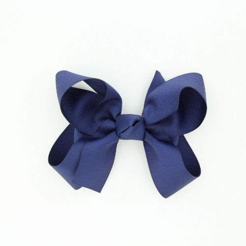 "Item no.: dgch, Size: 6""X5"", Color: Navy Blue,  Ribbon Size: 1 1/2"", Center: Cone,   Type of Clip: French Clip        MADE IN USA"