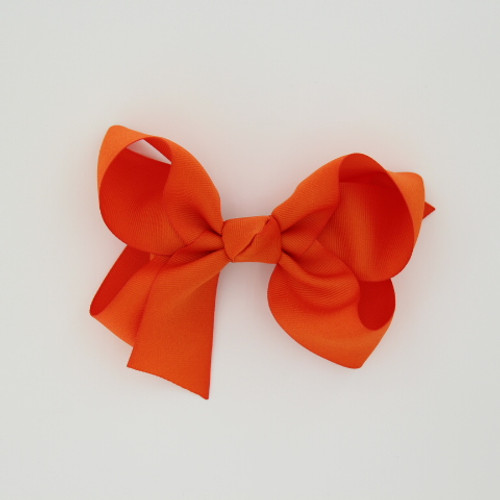 "Item no.: dgch, Size: 6""X5"", Color: Orange,  Ribbon Size: 1 1/2"", Center: Cone,   Type of Clip: French Clip        MADE IN USA"
