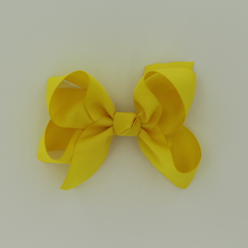 "Item no.: dgch, Size: 6""X5"", Color: Yellow,  Ribbon Size: 1 1/2"", Center: Cone,   Type of Clip: French Clip        MADE IN USA"