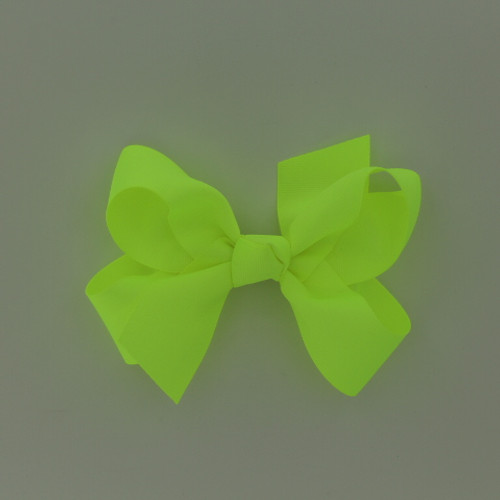 "Item no.: dgcs, Size: 6""X5"", Color: Neon Yellow,  Ribbon Size: 1 1/2"", Center: Cone,   Type of Clip: French Clip        MADE IN USA"