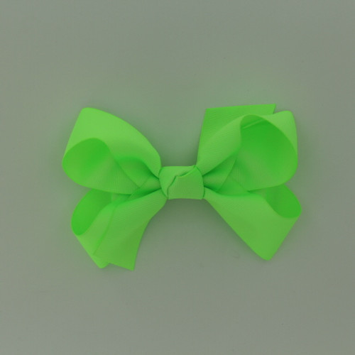 "Item no.: dgcs, Size: 6""X5"", Color: Neon Green,  Ribbon Size: 1 1/2"", Center: Cone,   Type of Clip: French Clip        MADE IN USA"