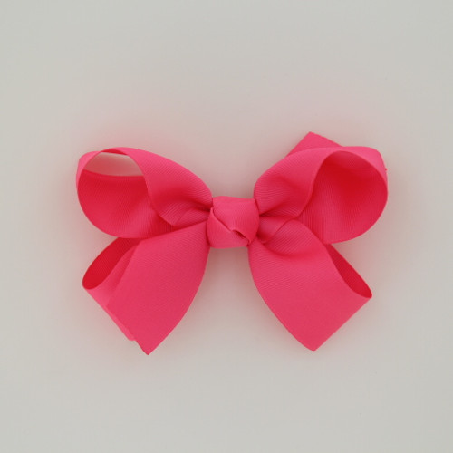 "Item no.: dgcs, Size: 6""X5"", Color: Neon Pink,  Ribbon Size: 1 1/2"", Center: Cone,   Type of Clip: French Clip        MADE IN USA"