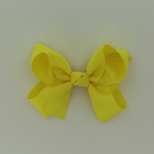 "Item no.: dgcs, Size: 6""X5"", Color: Lt. Yellow,  Ribbon Size: 1 1/2"", Center: Cone,   Type of Clip: French Clip        MADE IN USA"