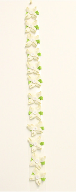 Flower Bow Ivory (1DZ)