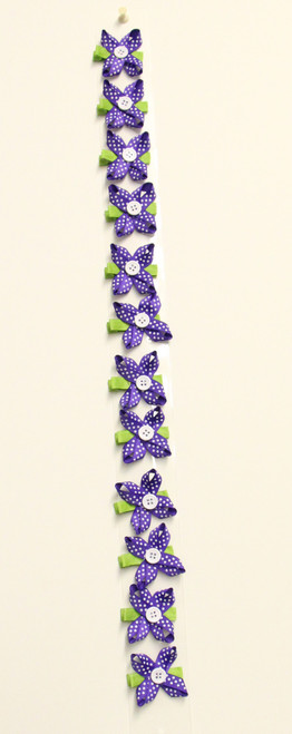 Flower Bow Puple (1DZ)