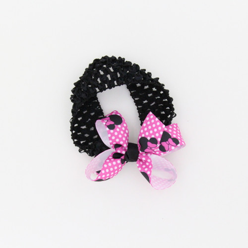 Elestic Crocket Headband with Bow