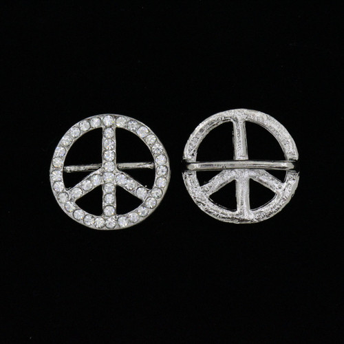 Large Peace Sign Buckle (1pc)