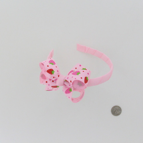 Pink Headband with Strawberry Bow