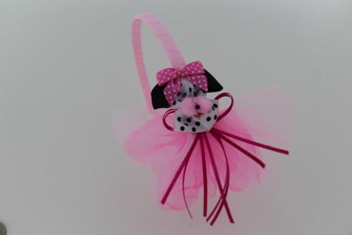 Headband with Dalmatian