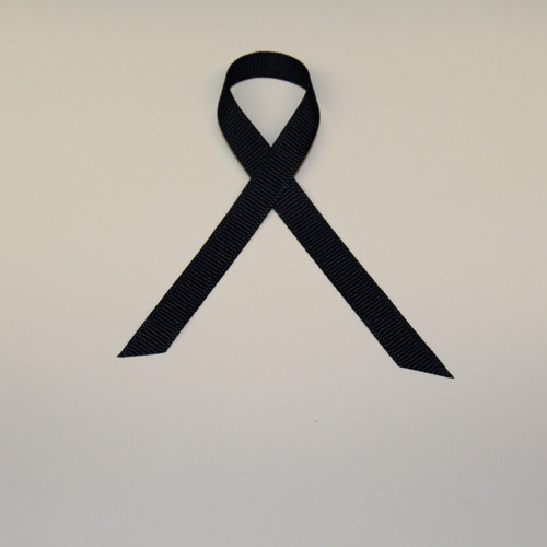"3/8"" Grosgrain Ribbon Black"