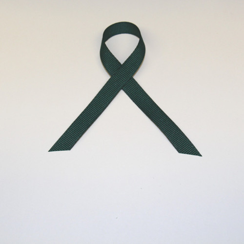 "3/8"" Grosgrain Ribbon Hunter Green"