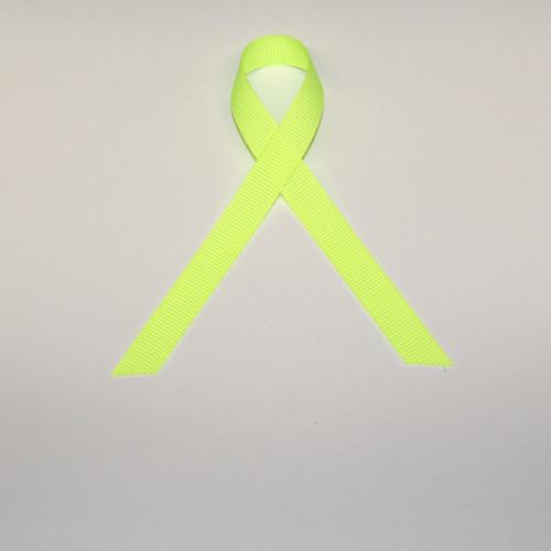 "3/8"" Grosgrain Ribbon Neon Yellow"