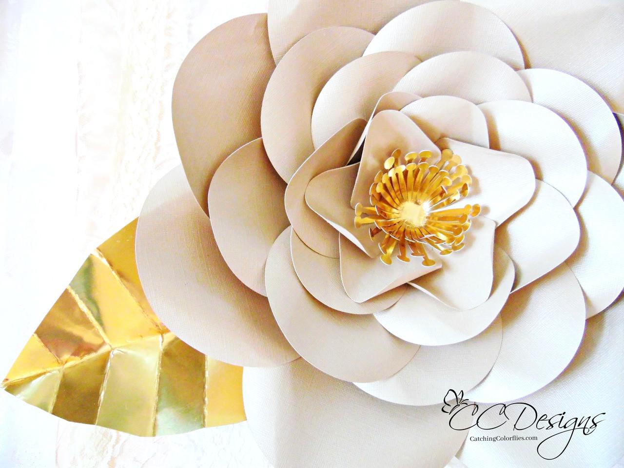Poppy Giant Paper Flower Template
