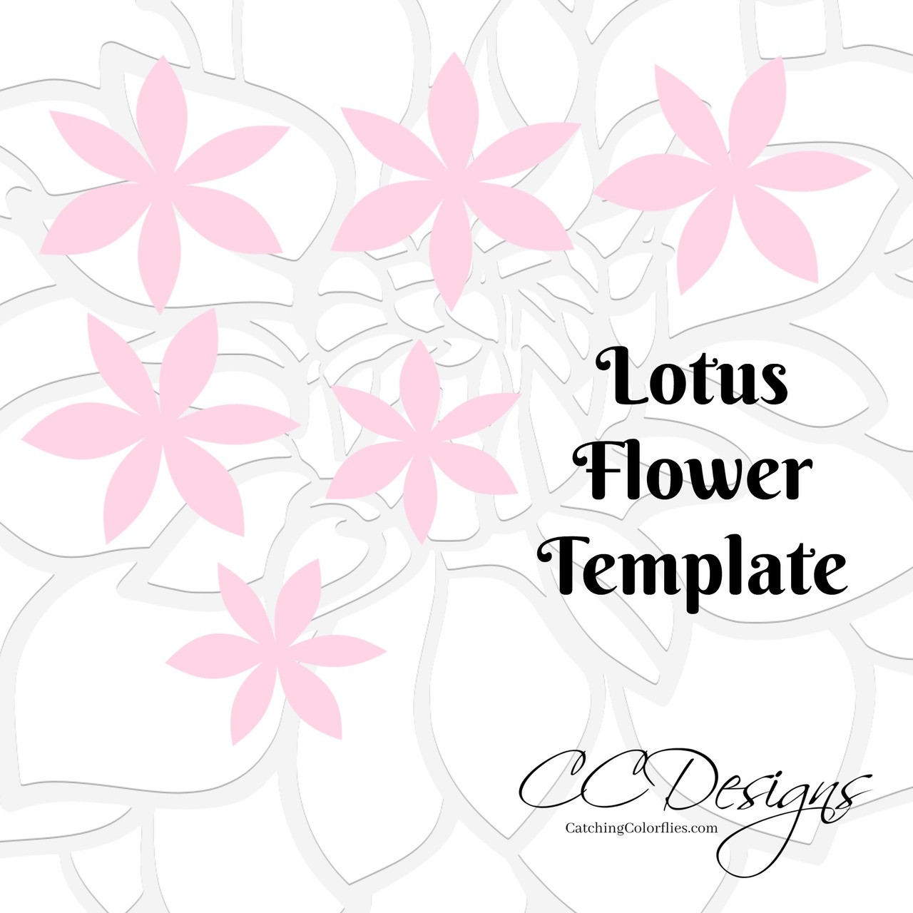 lotus style paper flower templates catching colorflies