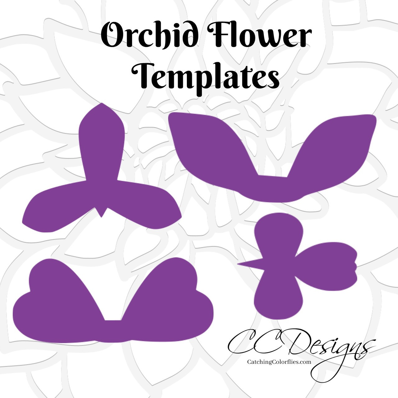 orchid paper flower templates