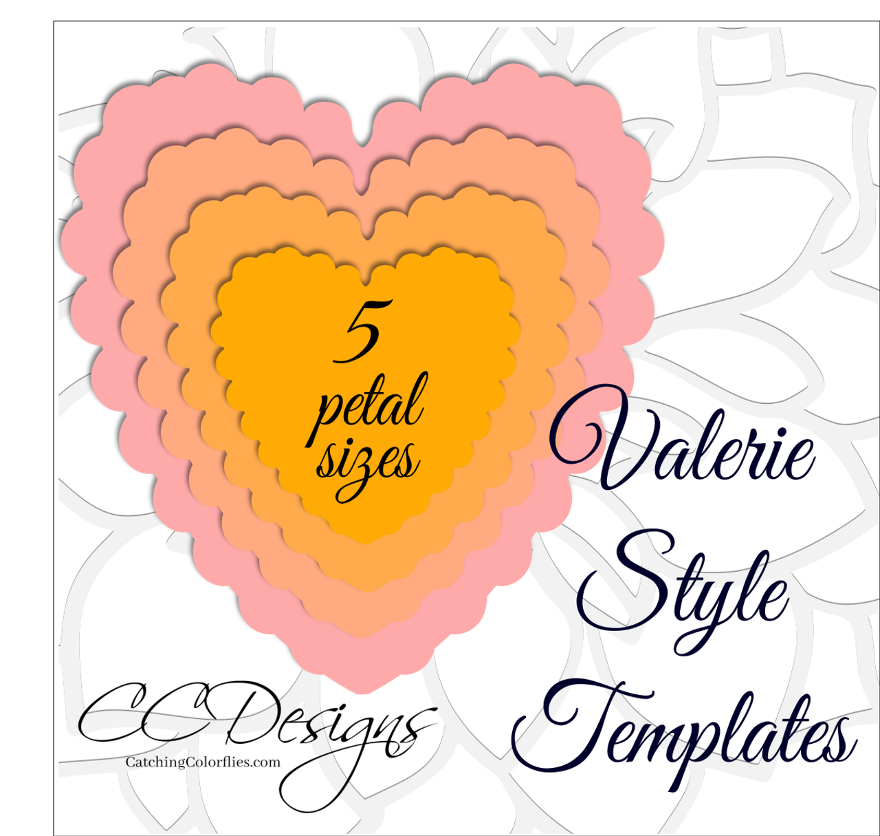 Valerie Style- DIY Giant Paper Flower Templates