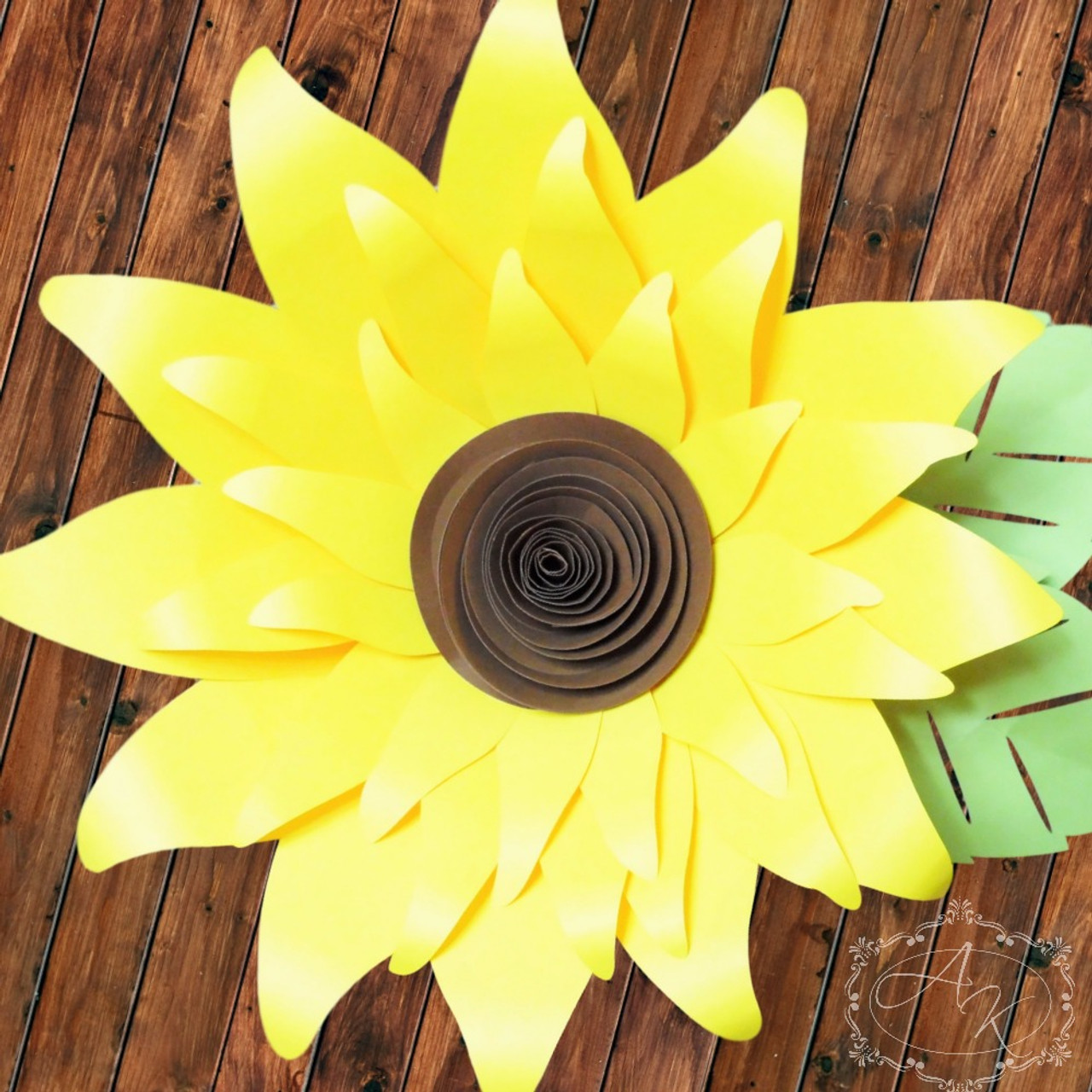 giant paper sunflower templates catching colorflies