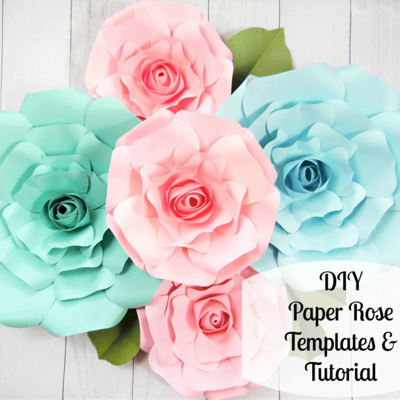 Giant Paper Rose Templates Regina Style
