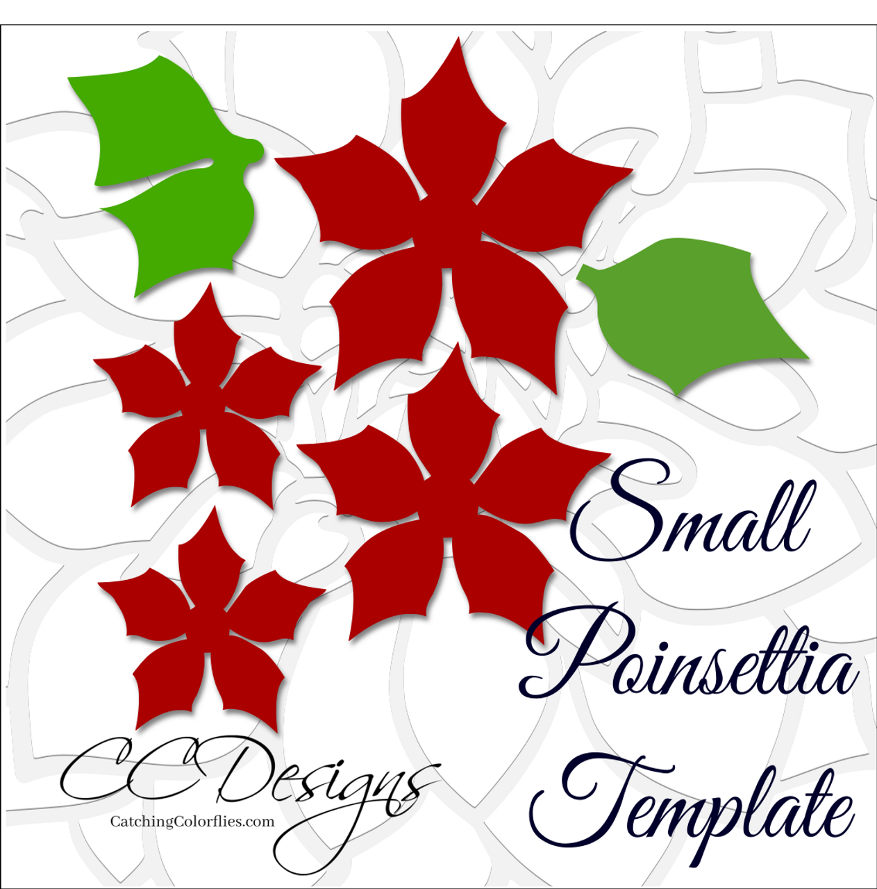 small poinsettia diy flower templates catching colorflies