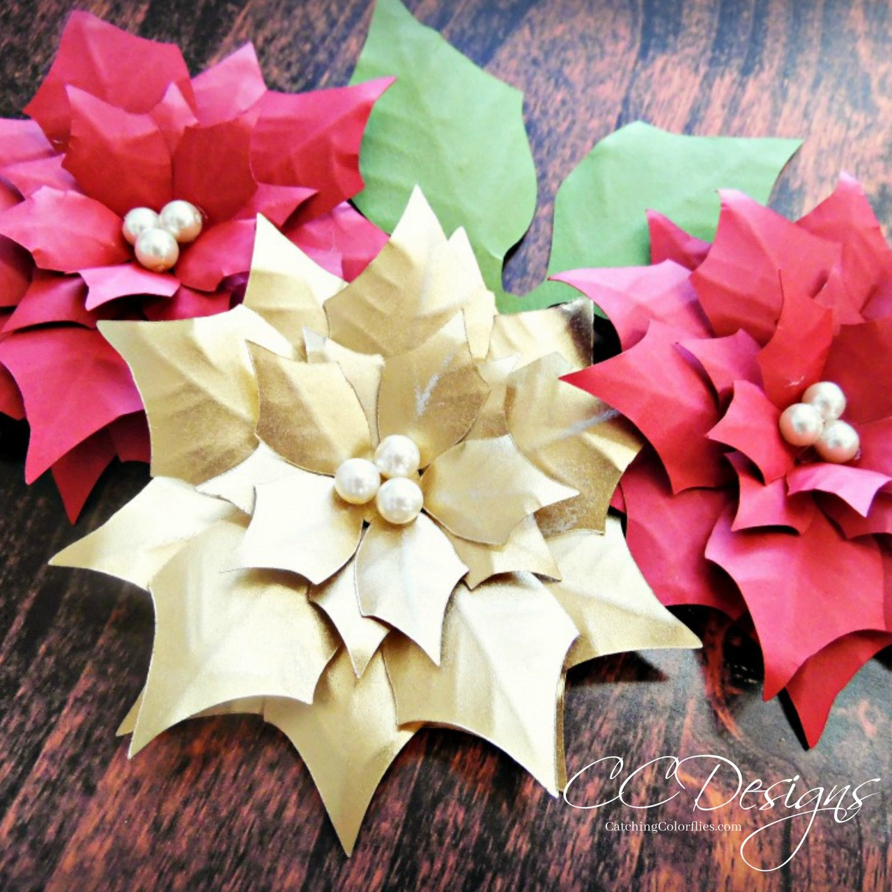 Strange Small Poinsettia Diy Flower Templates Beutiful Home Inspiration Xortanetmahrainfo