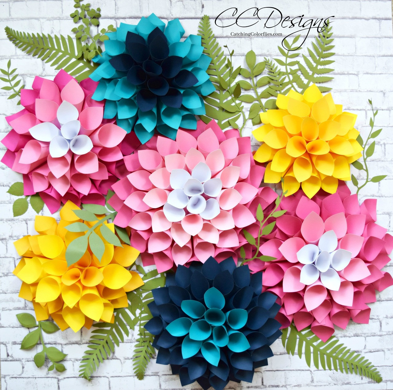 Giant Paper Dahlia Flowers Diy Flower Wall
